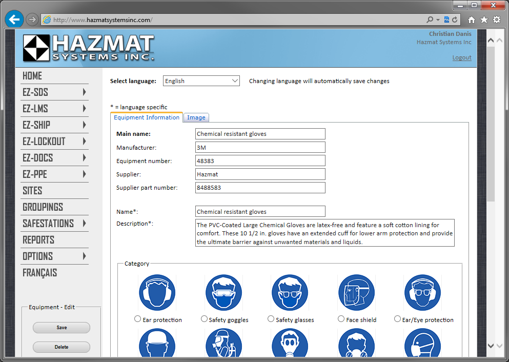 Create all the PPE used by your employees in our easy to use online interface